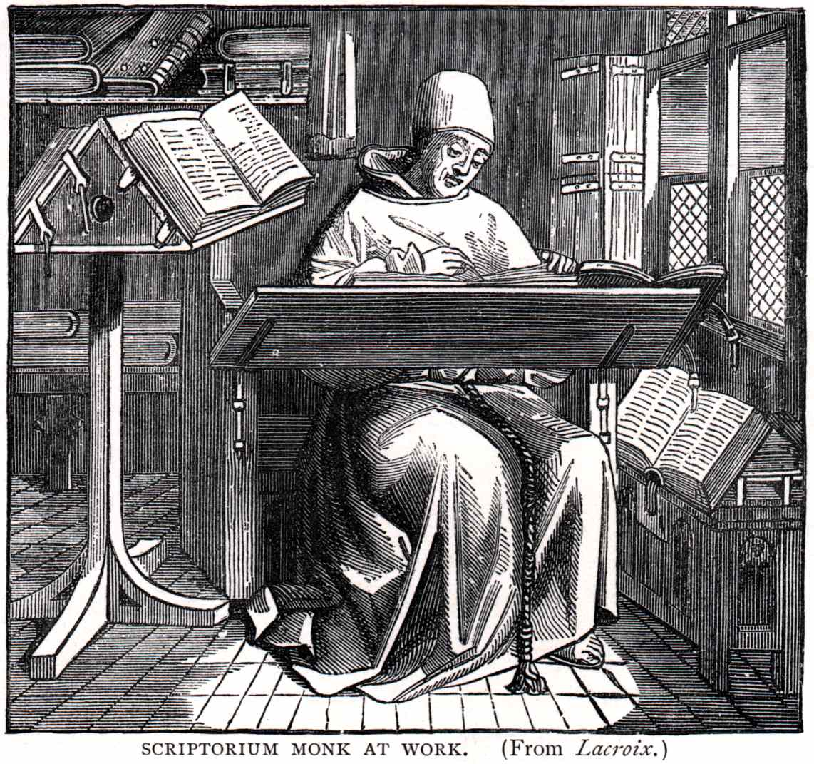 monk at work