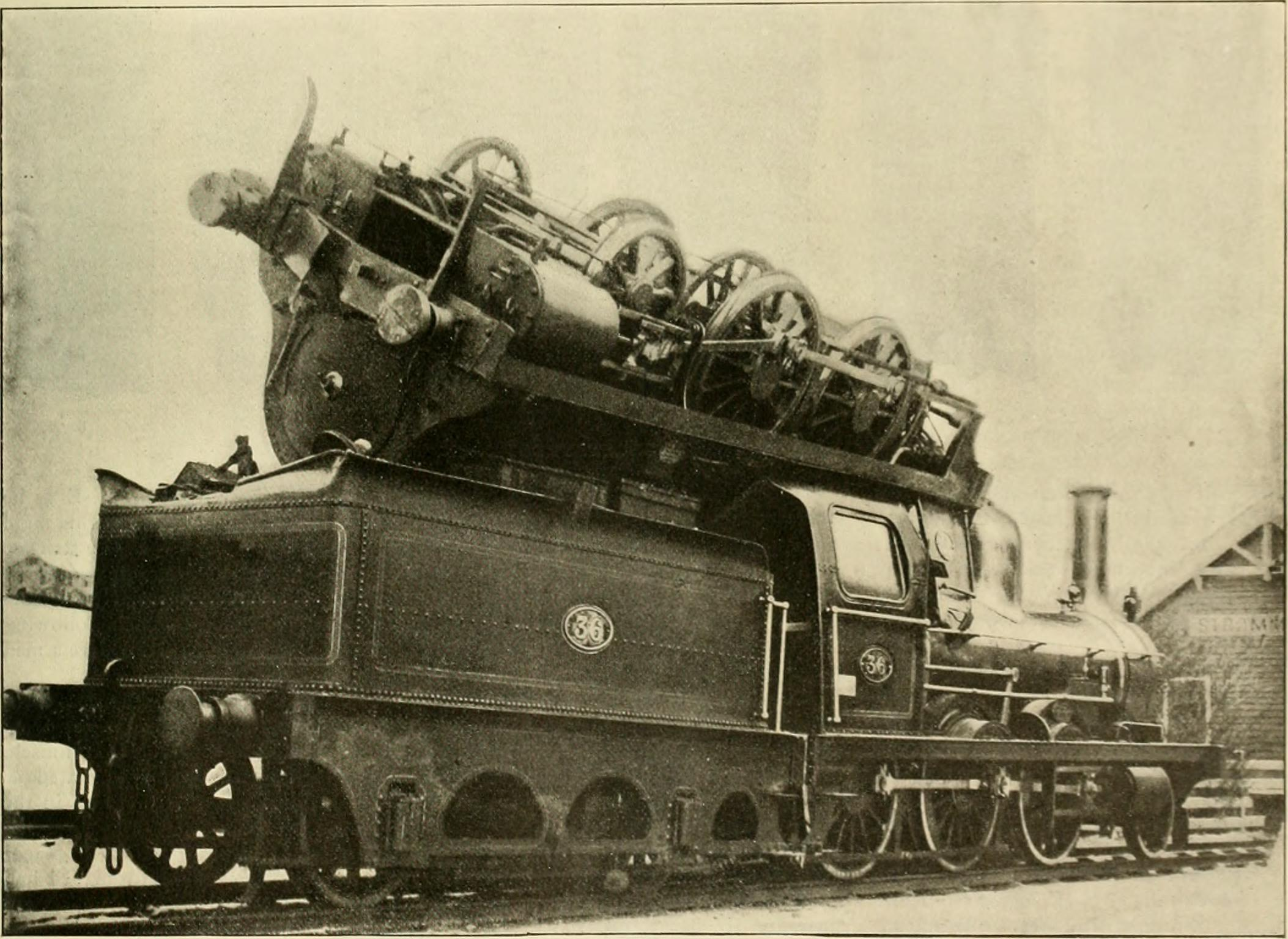 Boiler explosion throws one steam locomotive onto another