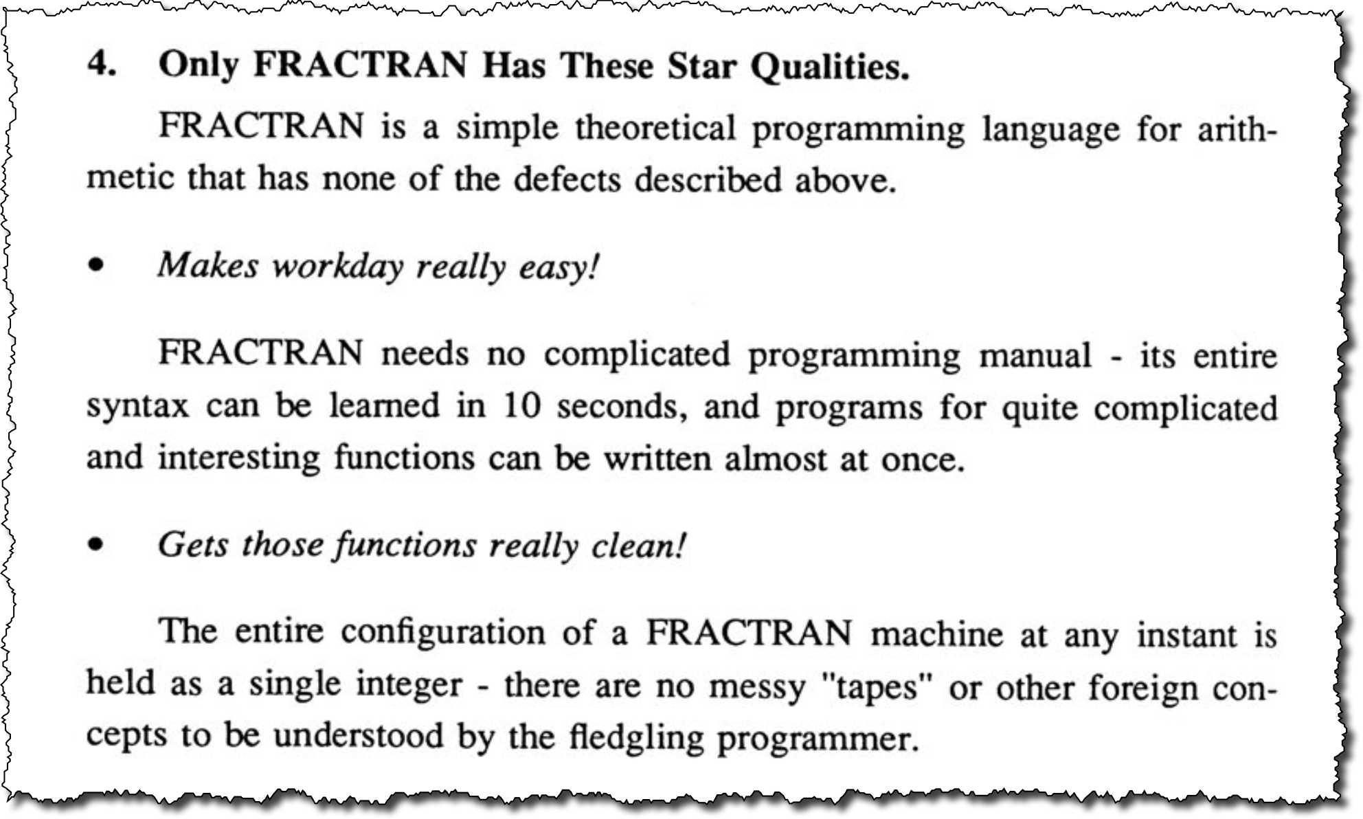 Only FRACTRAN has these star qualities
