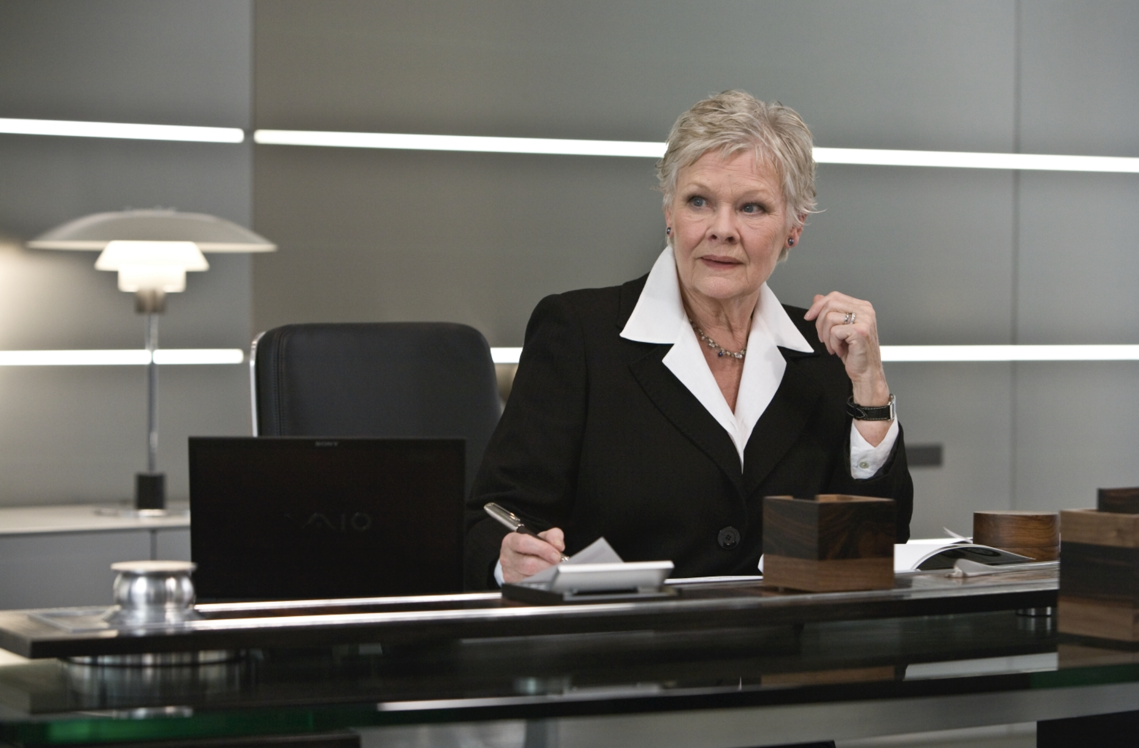 Dame Judy Dench as Lady Miles Messervy