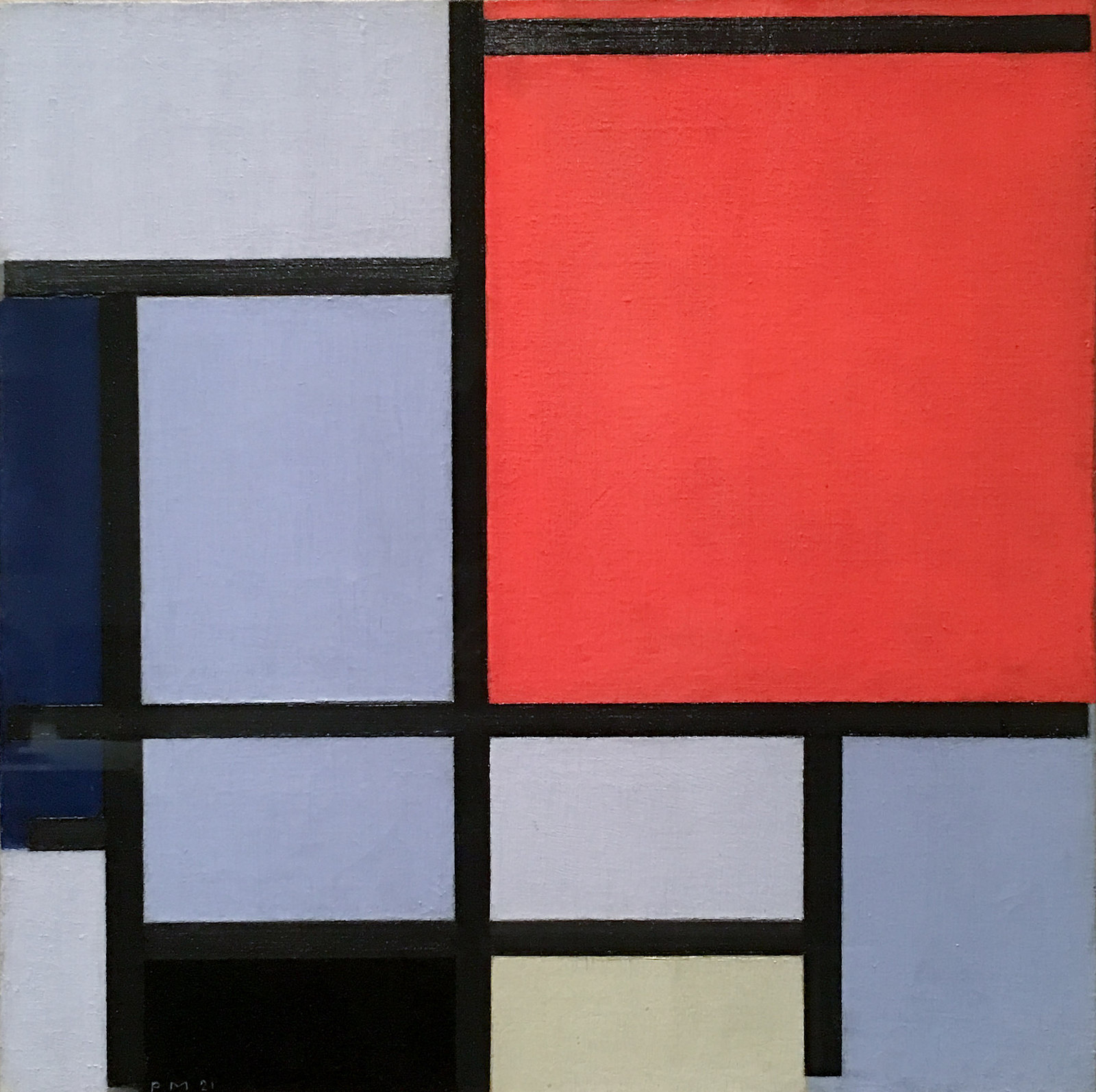Piet Mondrian, Composition, 1921 by Sharon Mollerus