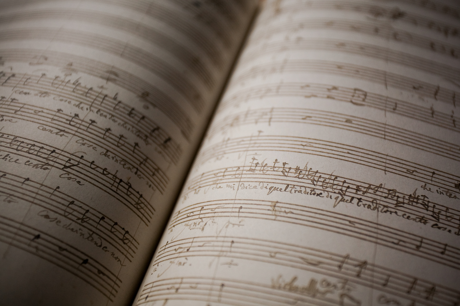 Composer's score for Don Giovanni