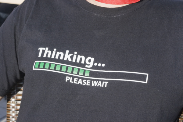 Thinking, please wait
